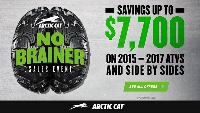 Arctic Cat - No Brainer Sales Event - SxS - MY2015-2016